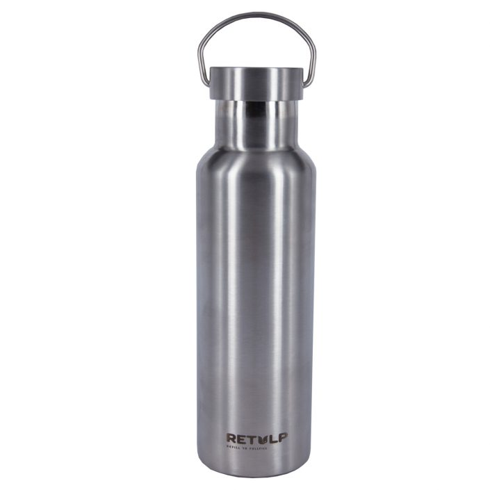 Retulp Urban 600ml thermos geborsteld staal metalen dop
