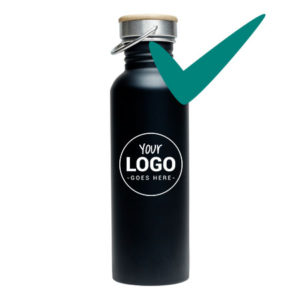 Retulp Urban 750 ml Zwart met logo