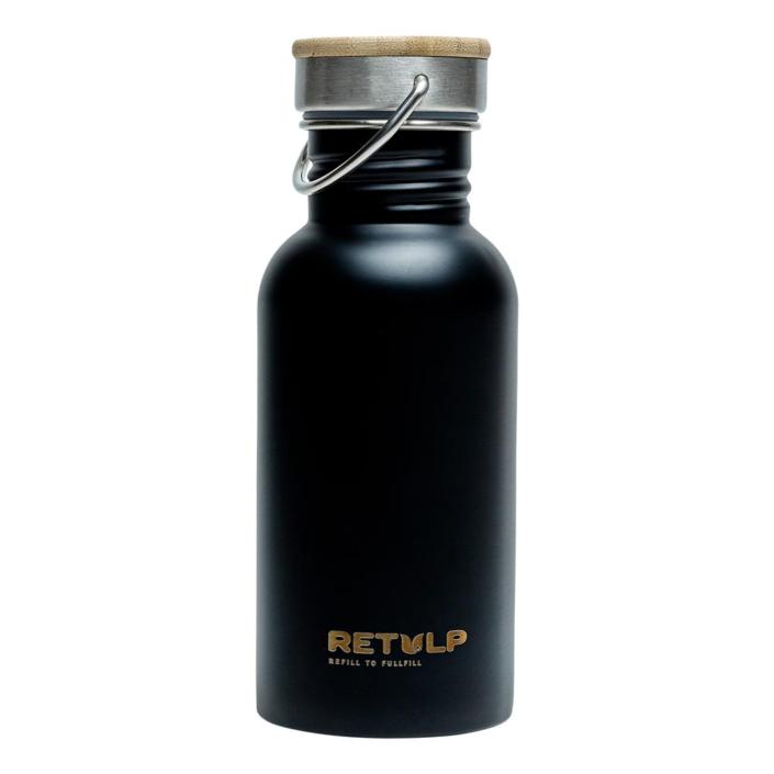 RVS drinkfles - Retulp Urban 500ml Black