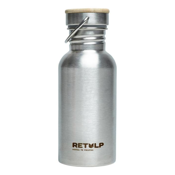 RVS drinkfles - Retulp Urban 500ml RVS Steel