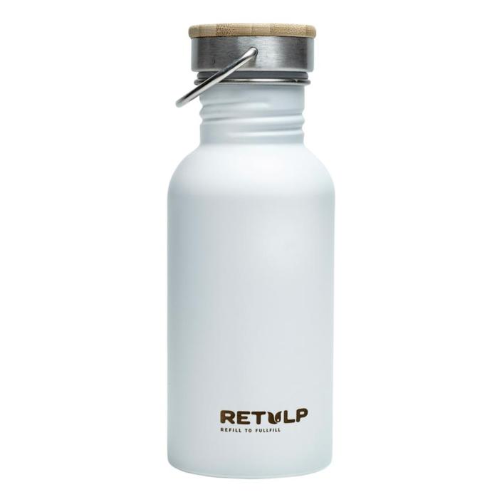 RVS drinkfles - Retulp Urban 500ml White