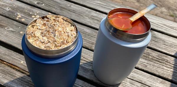 Big Mug Lunchpod blue grey - soep muesli - Retulp
